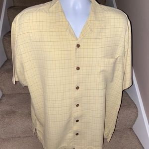 Tommy Bahama Relax *100% silk* button camp shirt L